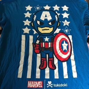 Marvel Captain American T-Shirt, Size XL